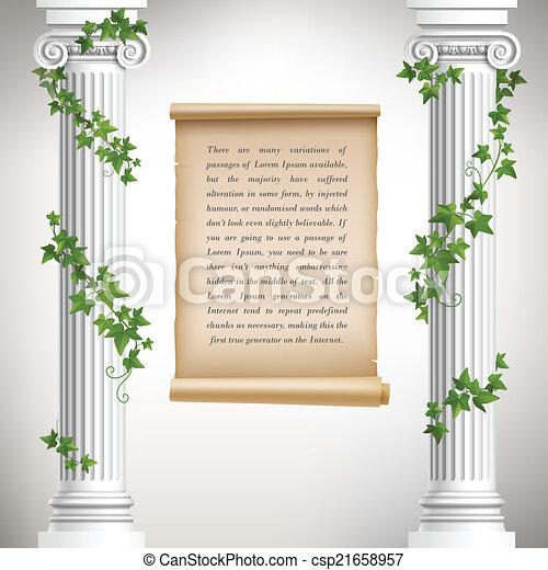 Antique columns poster - csp21658957