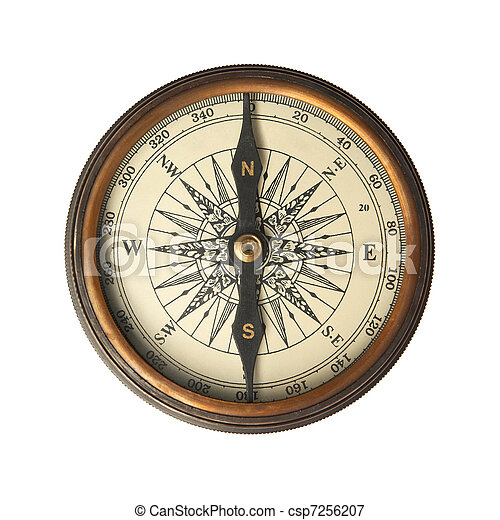 Antique Compass - csp7256207