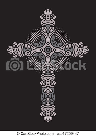 Antique Cross Ornament - csp17209447