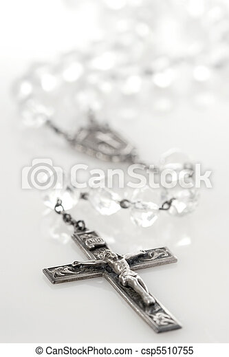 Antique crystal rosary - csp5510755