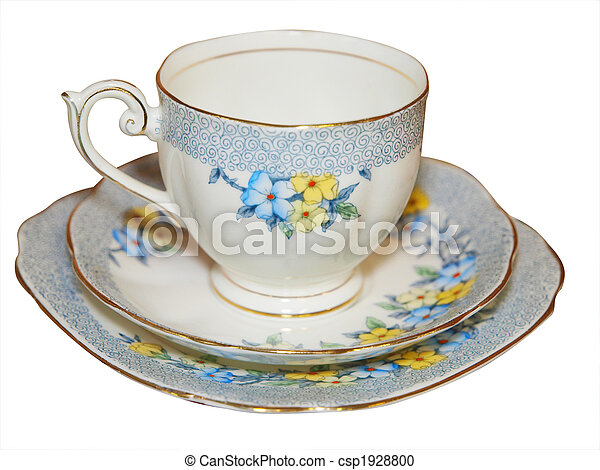Antique Cup Saucer and Plate - csp1928800