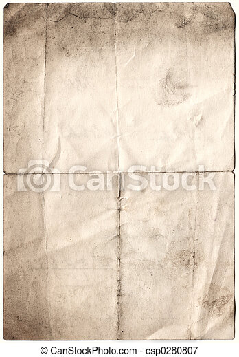 Antique Decayed Paper (inc clipping path) - csp0280807