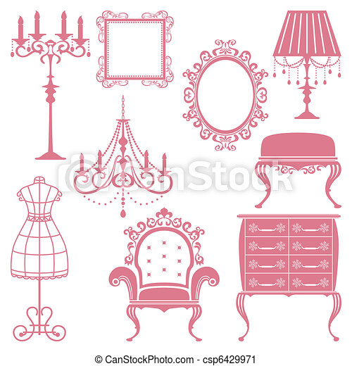 Antique design element set - csp6429971