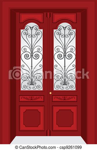 Antique Door Vintage Style Eps Vectors