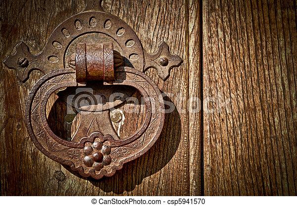 Antique Door Knob - csp5941570 - Stock Photography Of Antique Door Knob - Close-up Of An Antique