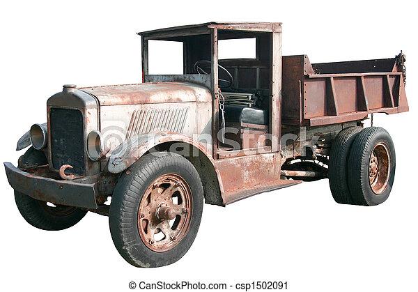 Antique Dump Truck - csp1502091