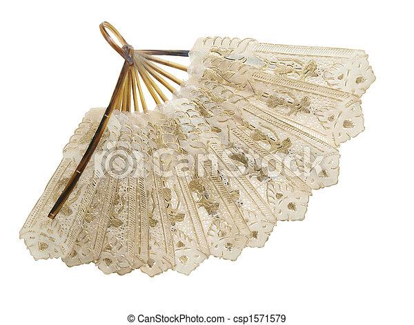 Antique Fan - csp1571579