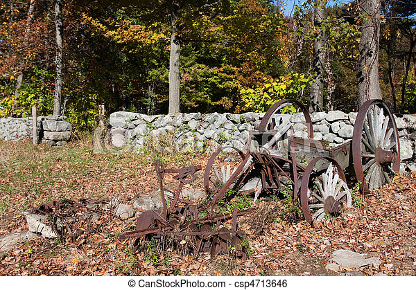 Antique Farm Equipment - csp4713646