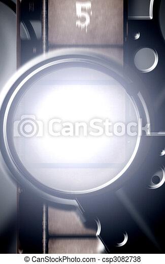 Antique film projector - csp3082738