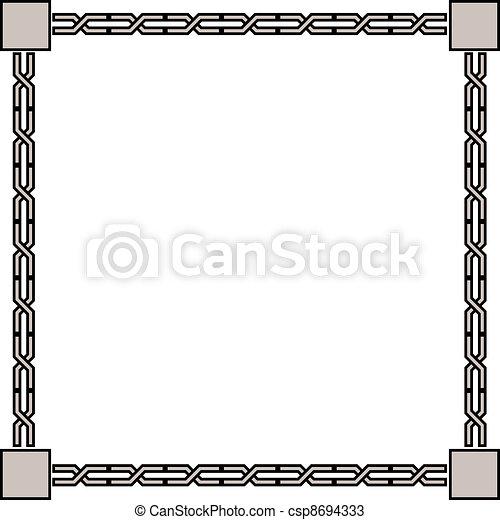 antique frame - csp8694333