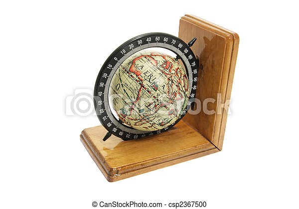 Antique Globe Bookend - csp2367500