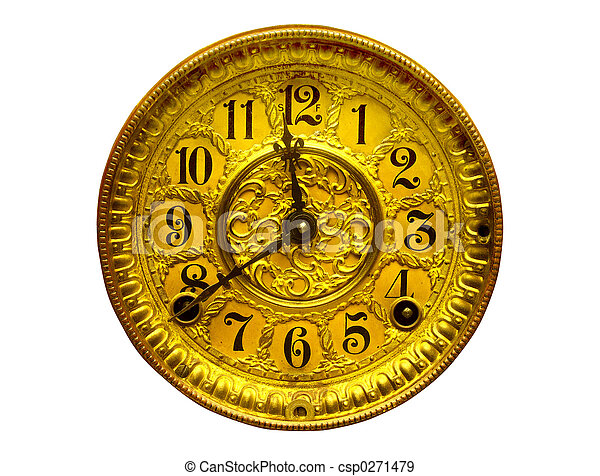 Antique Gold Clock Face