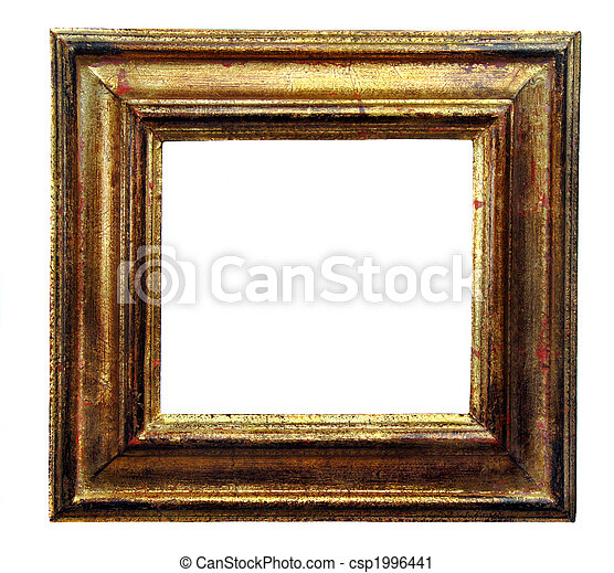 Antique Gold Picture Frame - csp1996441