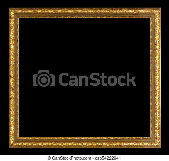 antique golden frame isolated - csp54222941