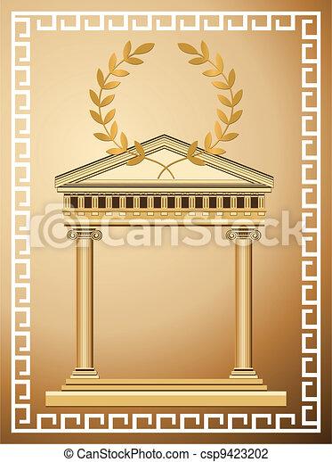 Antique Greek Background - csp9423202