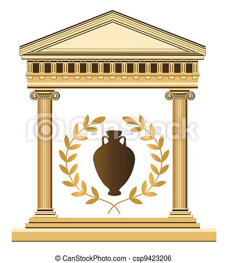 Antique Greek Symbols - csp9423206