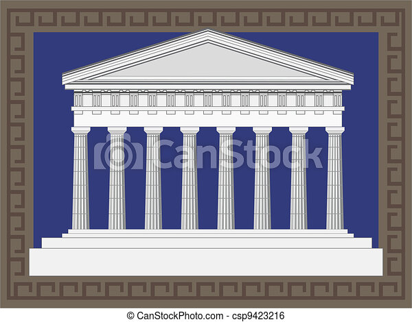Antique Greek Temple - csp9423216