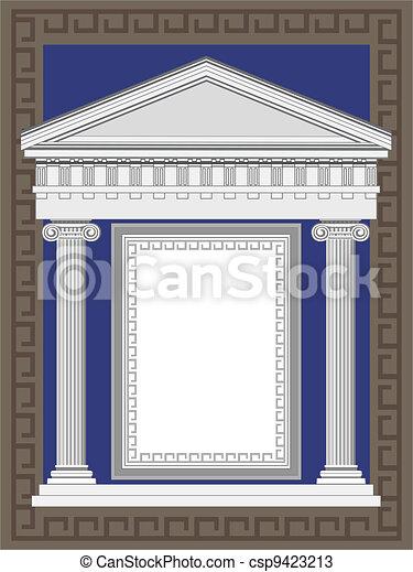Antique Greek Temple - csp9423213