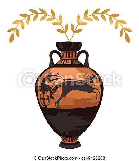Antique Greek Vase - csp9423208