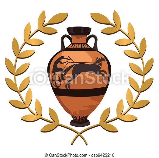 Antique Greek Vase - csp9423210