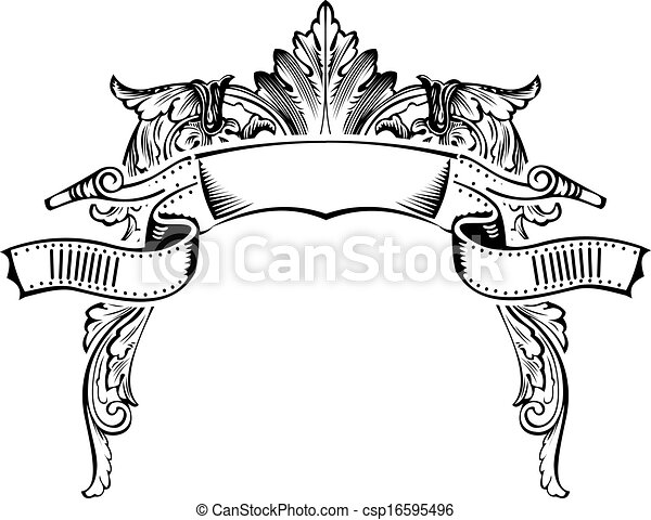 Antique Half Frame Engraving, Scalable And Editable Vector Illustration - csp16595496