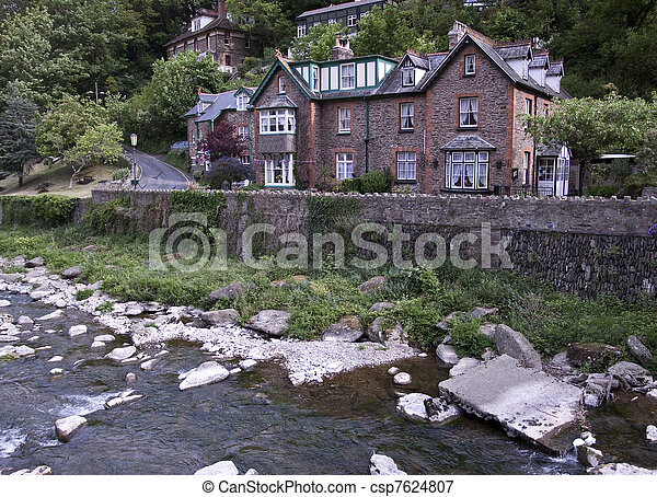 Antique house in English countrysid - csp7624807