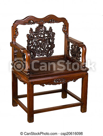 Antique Hung-Mu Chinese Chair. - csp20616098