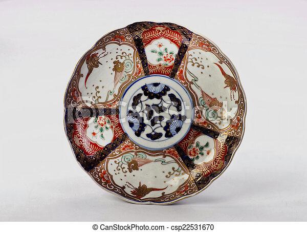 & 19th century antique japanese imari plate.