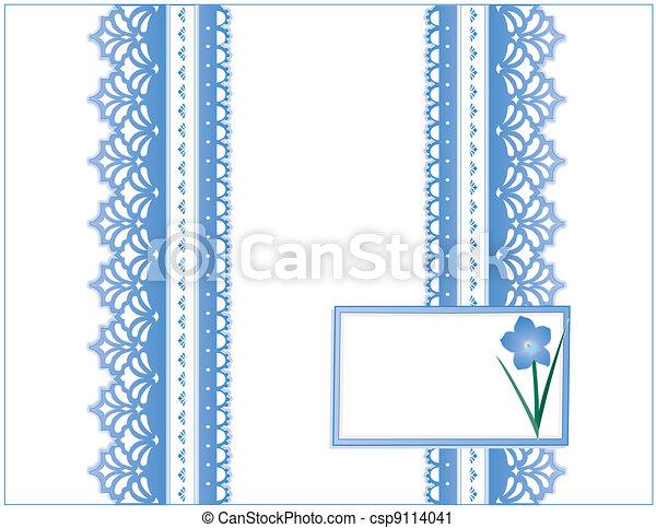 Antique Lace, Forget Me Not Flower - csp9114041