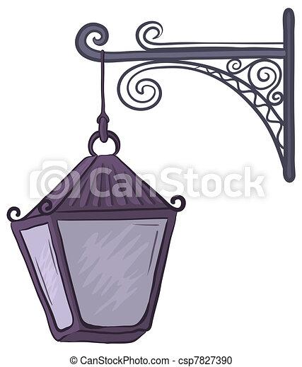 Antique lantern - csp7827390