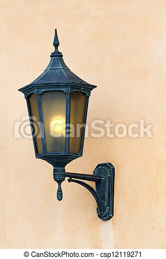 Antique lantern. - csp12119271