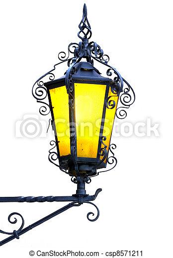 Antique lantern. - csp8571211