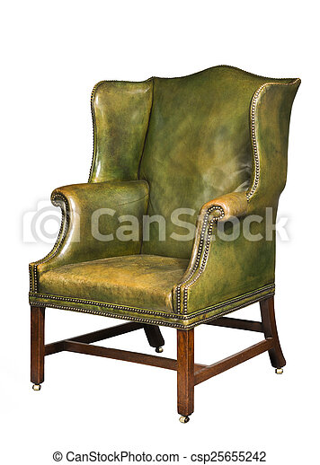 Strange Antique Leather Wing Chair Isolated Camellatalisay Diy Chair Ideas Camellatalisaycom
