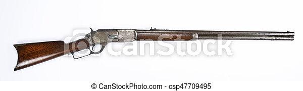 Antique Lever Action Rifle. - csp47709495