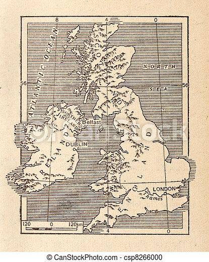 Antique Map of Britain - csp8266000