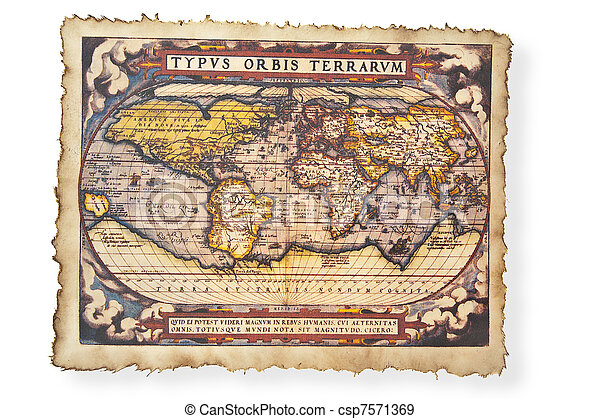 Antique map of World - csp7571369