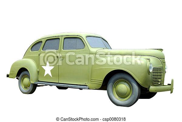 Antique Military Car - csp0080318