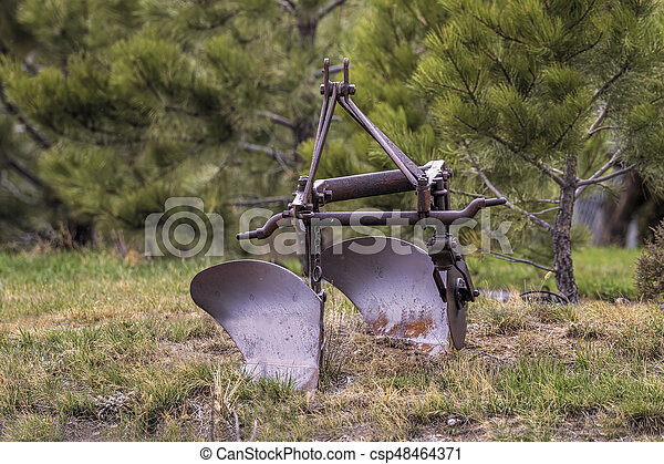 Antique Old Farm Plow Old Rusty Antique Vintage Farm Equipment Canstock