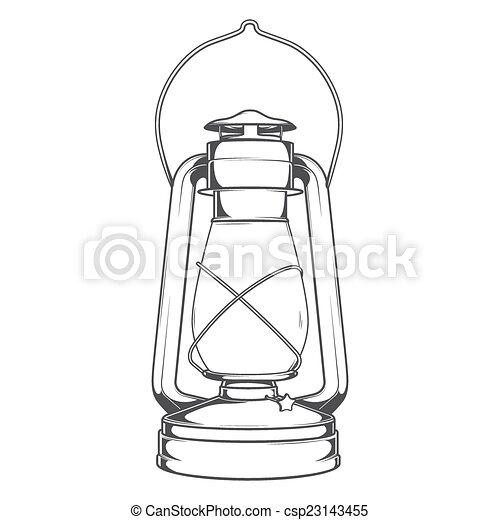 Antique Old Kerosene Lamp - csp23143455