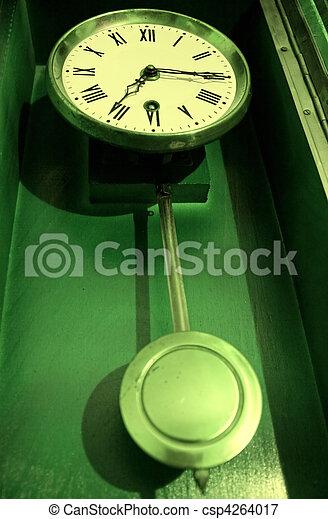 Antique old retro pendulum clock - csp4264017