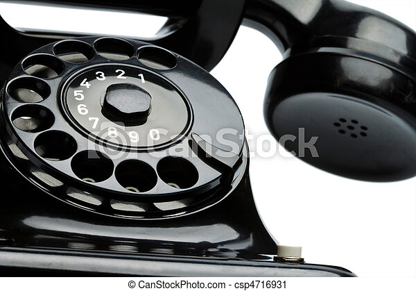 Antique, old retro phone. Fixed phone - csp4716931