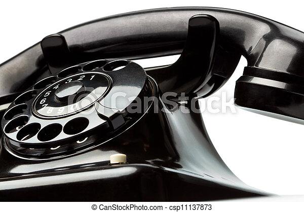 antique, old retro phone. - csp11137873