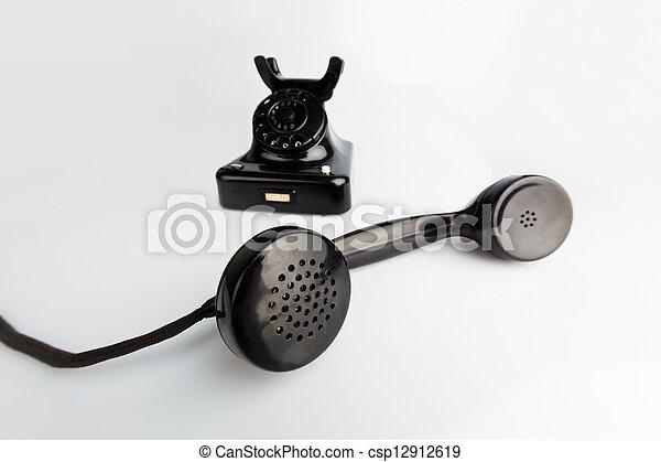 antique, old retro phone. - csp12912619