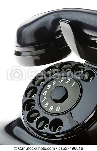 antique, old retro phone. - csp27496816