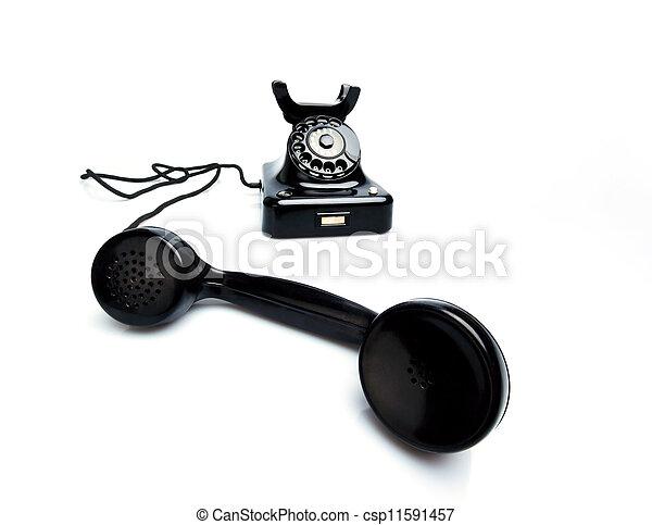 antique, old retro phone. - csp11591457