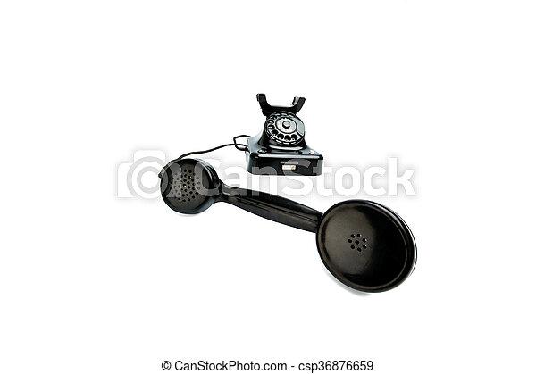 antique, old retro phone. - csp36876659