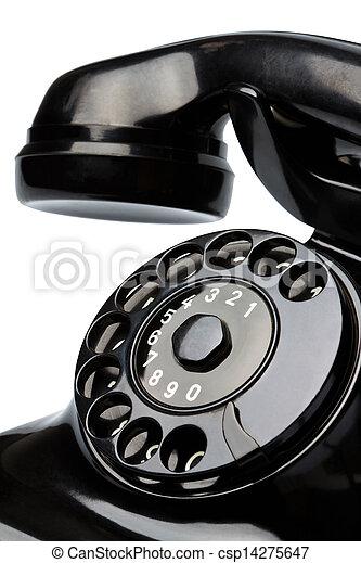 antique, old retro phone. - csp14275647