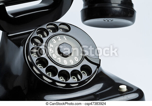 antique, old retro phone. - csp47383924