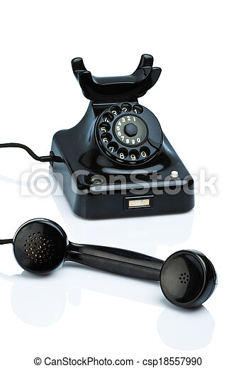 antique, old retro phone. - csp18557990