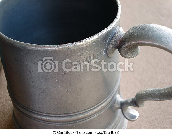 Antique Pewter Mug - csp1354872